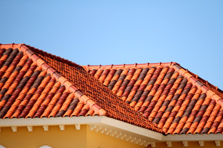Extension showing roof tiles matched to exsiting roof
